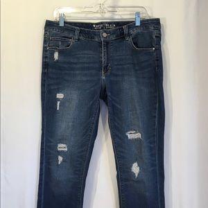 White House Black Market Jeans Skinny Distressed